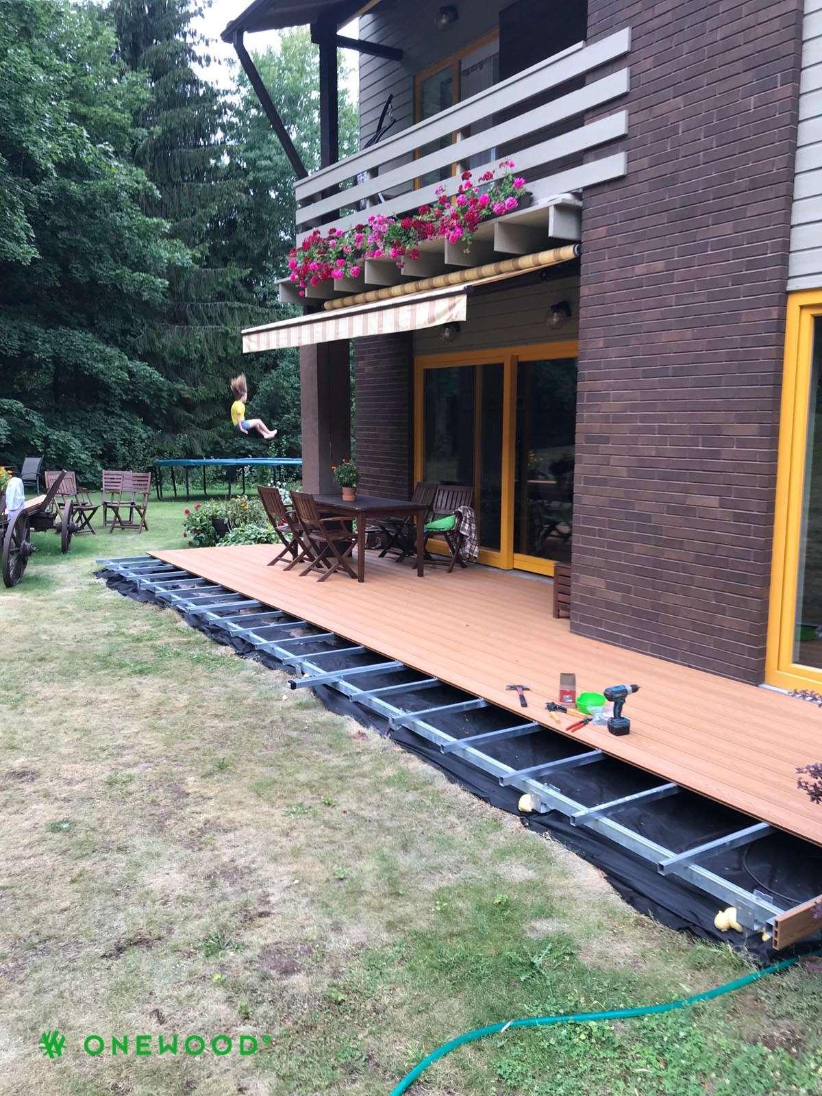terasos montavimas