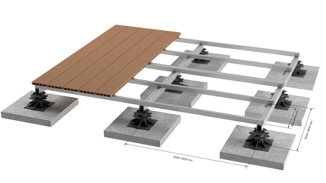 terasa ant saligatvio plyteliu