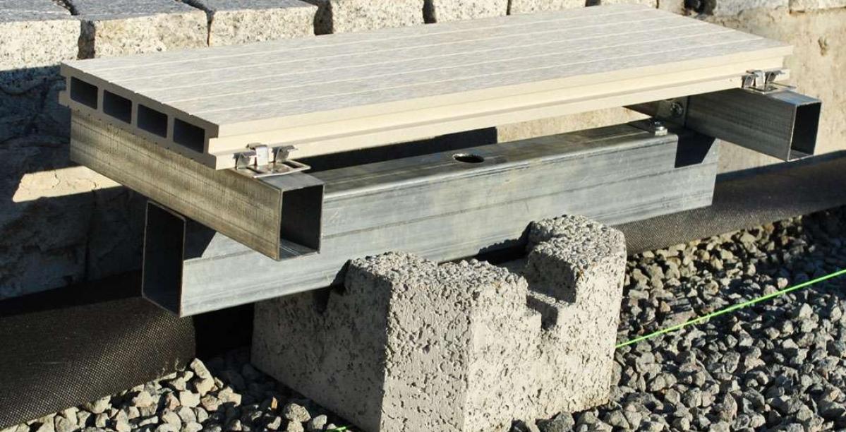 terasos montavimas ant betoniniu bloku SL1